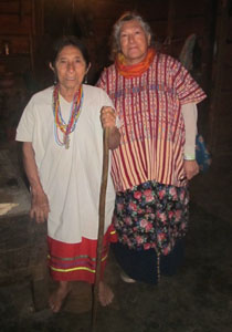 Grandmother Flordemayo with Lacandon Maya elder Koh Maria