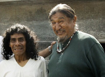 Hopi Harold Joseph with Lacandon Maya elder Don Antonio Martinez