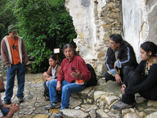 Sharing stories at Palenque