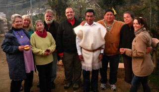 Group with Don Xun Calixto after the curing ritual
