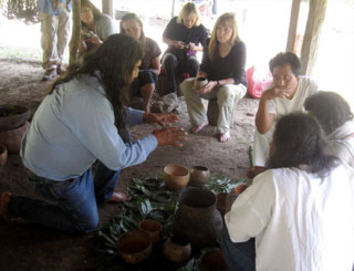 Elder Harold Joseph sharing Hopi traditions with the Lacand—n Maya